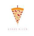 pizza and shawarma gyros doner kabob isolated vector image vector image