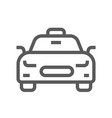 public navigation line icon taxi vector image vector image