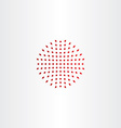 red halftone design element icon vector image vector image