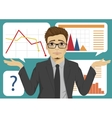 sad businessman throws up his hands vector image vector image