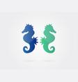 seahorse sign sea animal icon symbols vector image