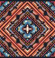 seamless tribal boho pattern vector image vector image