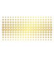 service tools golden halftone pattern vector image