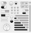 set of black and white interface navigation vector image vector image