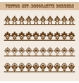 Set of floral decorative borders