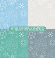 set seamless vintage pattern from snowflakes vector image