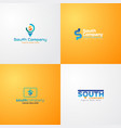 south company logo template with s letter as vector image