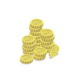 stacks gold coins isometric 3d icon vector image
