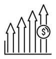 startup finance graph icon outline style vector image vector image