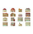 stone home or cottage building vector image vector image