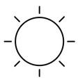 sun 01 vector image vector image