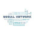text cloud social media and networking related vector image