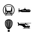transport transportation simple related icons vector image vector image