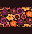 vintage stylized floral seamless pattern vector image vector image