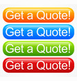 vivid quote buttons vector image