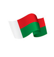 waving flag of madagascar isolated on white vector image vector image