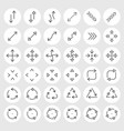 line icons set vector image