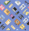 telephones icons sealess pattern isolated vector image