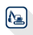 excavator flat icon vector image