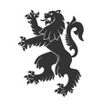 Black Roaring Lion vector image