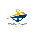 abstract boat logo vector image vector image