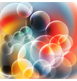 abstract red and blue bubbles background vector image