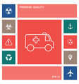 ambulance line icon elements for your design vector image vector image