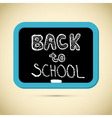 Back to School Title with Chalk and Blackboard vector image
