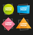 banners flat trendy geometric vector image