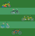 bike sport bicycles transport style old vector image vector image