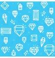 Blue diamonds vector image vector image
