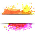 bright modern splatter paint background vector image vector image