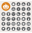Christmas Halloween icon set vector image
