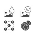 copyright flat glyph icons vector image