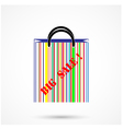 Creative abstract shopping bag vector image