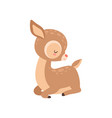 cute badeer sleeping adorable forest fawn vector image vector image