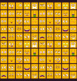 cute comic seamless pattern with funny yellow vector image vector image