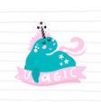cute magic unicorn print ready childish label vector image vector image