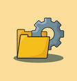 document folder design vector image vector image