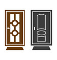 door icon on white background vector image