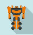 fantasy robot transformer icon flat style vector image vector image