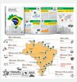 Federative Republic Of Brazil Travel Guide Book vector image vector image