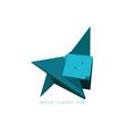 fennec fox origami vector image