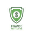finance protection - logo design business vector image vector image
