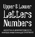 font of white lowercase uppercase letters numbers vector image
