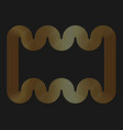 geometric frame gold stripes swirling pattern vector image