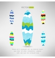 Geometrical surfboard designs set Surfing board vector image vector image