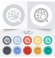 Global search sign icon World globe symbol vector image