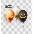 halloween balloon with scary spooky faces vector image
