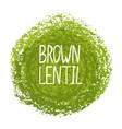 handwritten word brown lenti vector image vector image